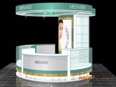 商场包柱化妆品柜台