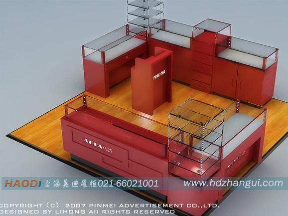 4.内部结构:五金配件月木屐处完美结合,展柜内部的电路合理安排.