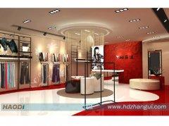 中国红服装展柜厂