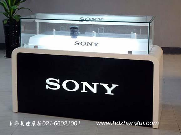SONY品牌手机展示柜_展柜制作_上海昊迪展示柜有限公司